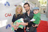 Kaitlin Olson and Rob McElhenney brought their kids with them to enjoy the Milk and Bookies event in Los Angeles.