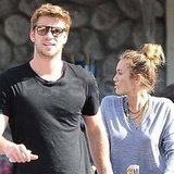 Miley Cyrus and Liam Hemsworth went shopping at Whole Foods.