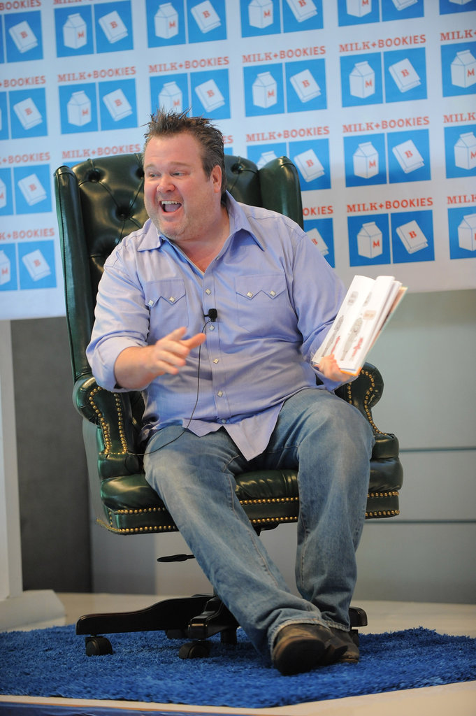 Eric Stonestreet read to the kids at the Milk and Bookies event.