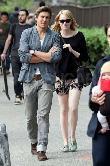Emma Stone Reunites With Her Big-Screen Love For an NYC Stroll
