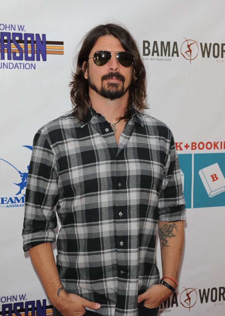 Dave Grohl had his two daughters, Violet and Harper, with him as he attended the event.