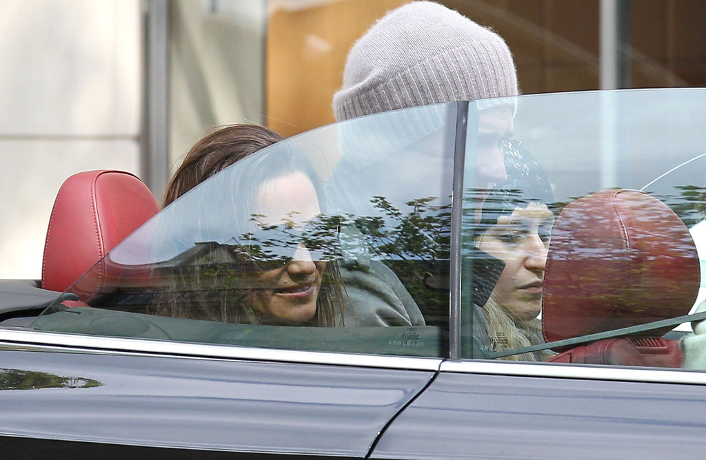 Pippa Middleton in a car in Paris.