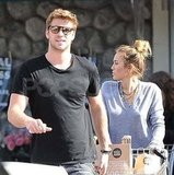 Liam Hemsworth and Miley Cyrus shopped at Whole Foods.