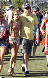 Emma Roberts kept cool in a pair of floral shorts and a cutout tank with boyfriend Chord Overstreet.