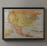 Restoration Hardware Vintage French USA Map ($269)