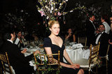 Greta Gerwig posed from her table at the Grand Chefs Dinner in NYC.