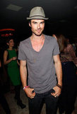 Ian Somerhalder kept it casual at Glamour magazine's book party in West Hollywood.