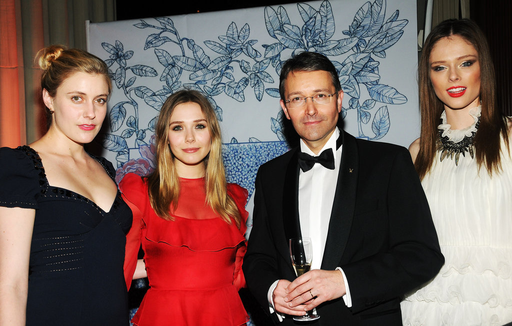 Jean-François Ferret, Elizabeth Olsen, Greta Gerwig, and model Coco Rocha smiled together at the Grand Chefs Dinner in NYC.