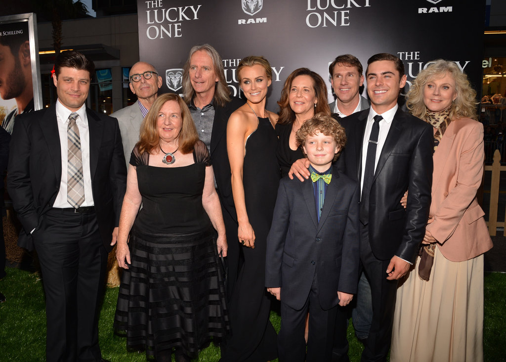 Zac Efron and the cast of The Lucky One at the film's premiere in LA.