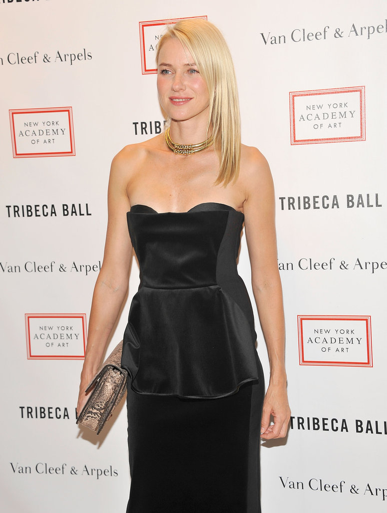 Naomi Watts smiled in Stella McCartney at the 2012 Tribeca Ball in NYC.
