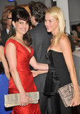 Carla Gugino and Naomi Watts chatted together at the 2012 Tribeca Ball in NYC.