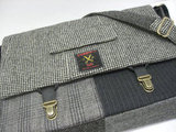 Recycled menswear messenger bag ($120)