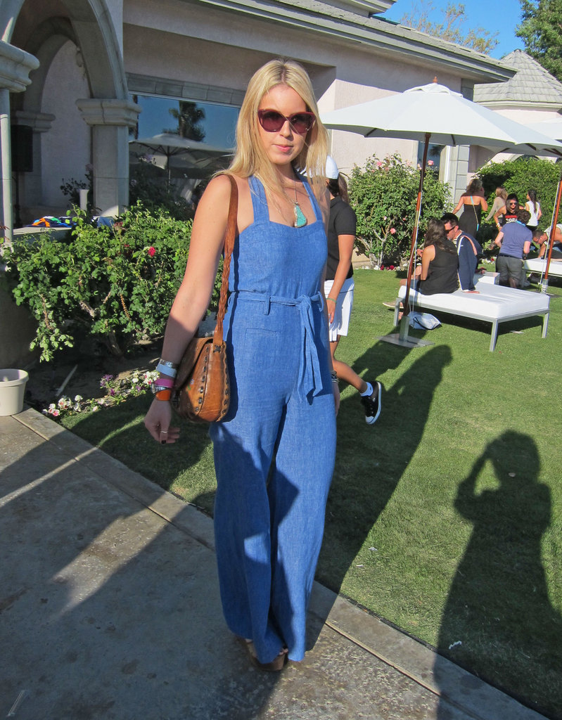 We spotted this denim jumpsuit at Coachella and totally fell in love. It has an entirely accessible vibe, while being totally on-trend.