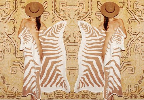 maslin zebra hide beach towel
