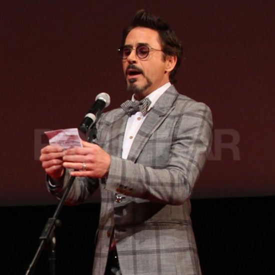 Robert Downey Jr. addressed the Moscow crowd.
