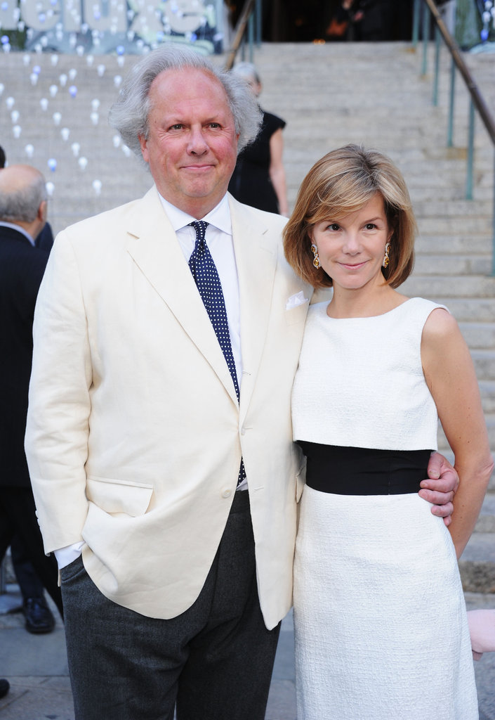 Vanity Fair's Graydon Carter attended the bash with Anna Scott for the 2012 Tribeca Film Festival.