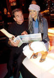 Dick Clark and Christina Aguilera rehearsed for the American Music Awards during January 2003.