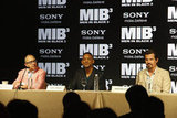 Will Smith joined producer Barry Sonnenfeld and Josh Brolin as they talked about MIB3 in Cancun.