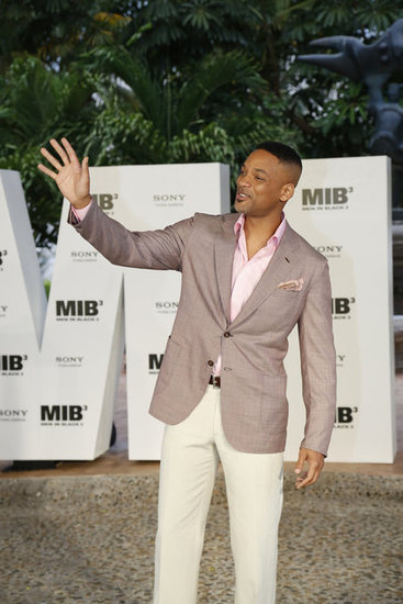 Will Smith waved to fans at the Summer of Sony Event in Cancun.