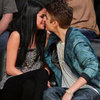 Justin Bieber and Selena Gomez PDA Pictures at Lakers Game