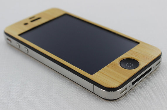 Ease your mind when using the iPhone 5 Skin ($24), crafted of bamboo, a fast-growing plant.