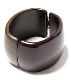 Rounded edges and shiny varnish elevate the luxe factor on this wooden cuff. Banana Republic Tribal Mood Bracelet ($45)