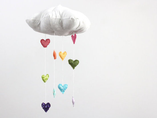 Baby Jives Co. Heart Rainbow Cloud Mobile