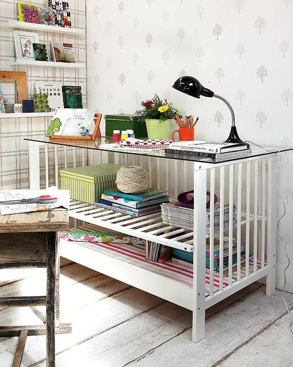 Crib Turned Grown-Up Desk