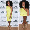 Kelly Rowland Yellow One-Shoulder Dress