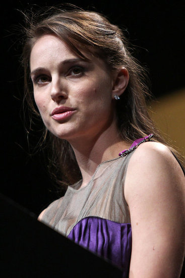 Natalie Portman gave a speech.
