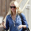 Gwyneth Paltrow in Bright Moccasins in LA Pictures
