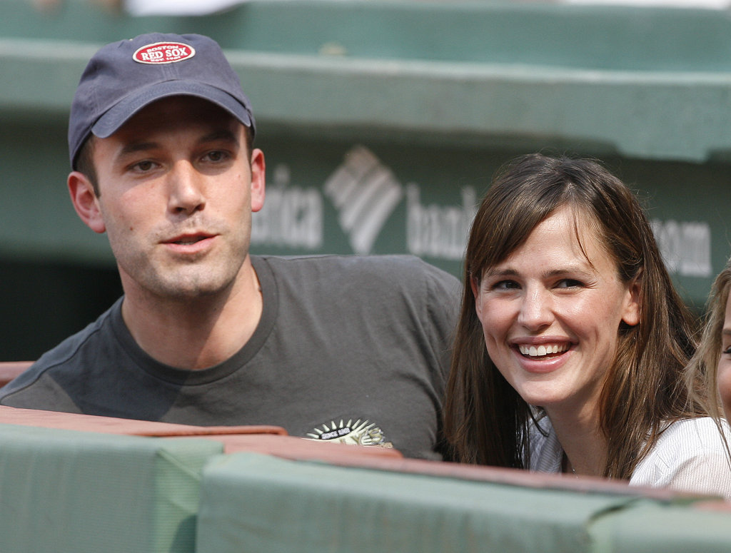 Ben Affleck and Jennifer Garner were next to the Red Sox before a game in June 2007.