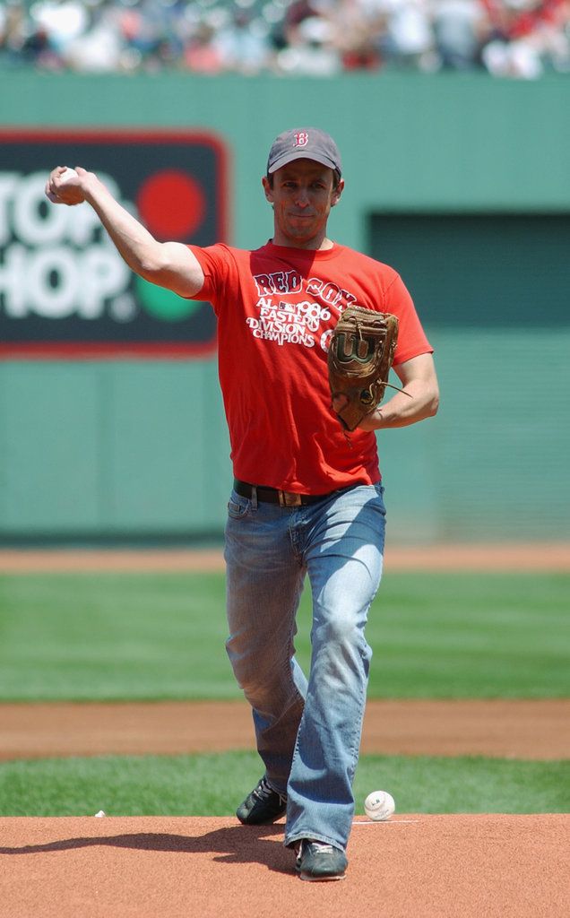 In June 2004, Seth Meyers was able to throw out a first pitch.
