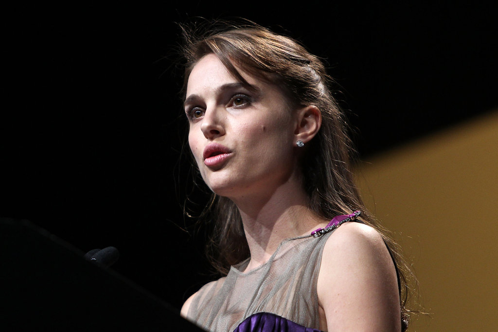 Natalie Portman spoke at an event in Washington DC.