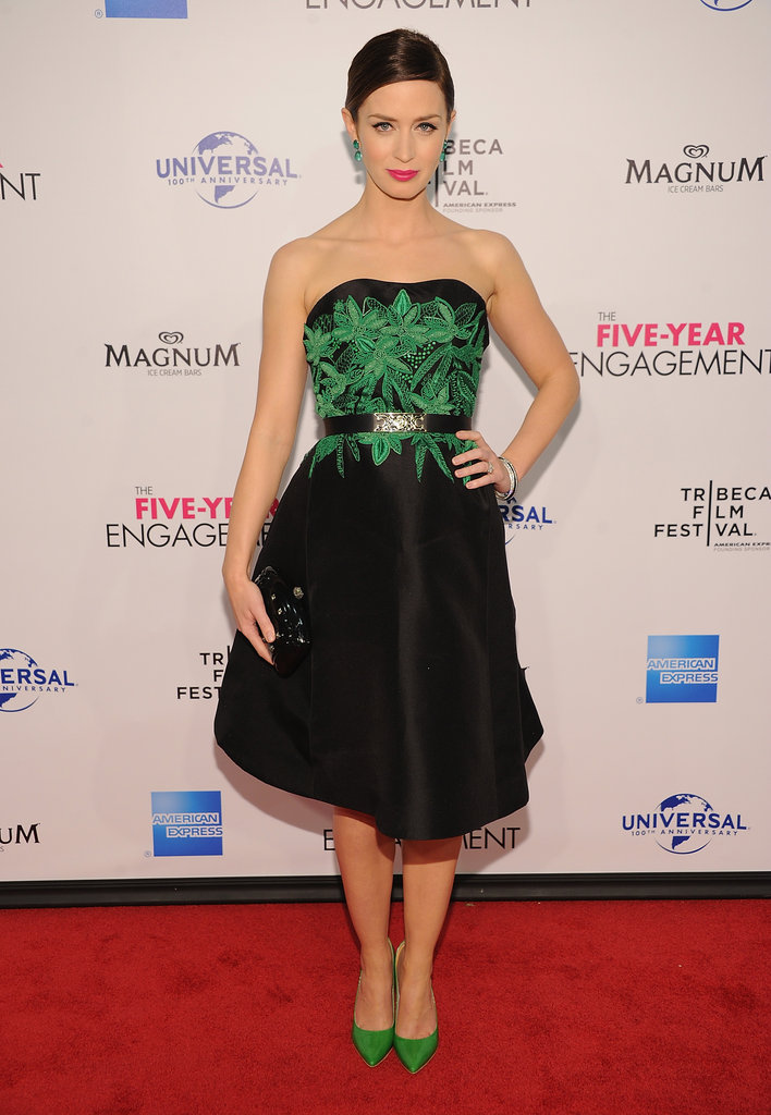 Emily Blunt attended the premiere of The Five-Year Engagement during the 2012 Tribeca Film Festival.