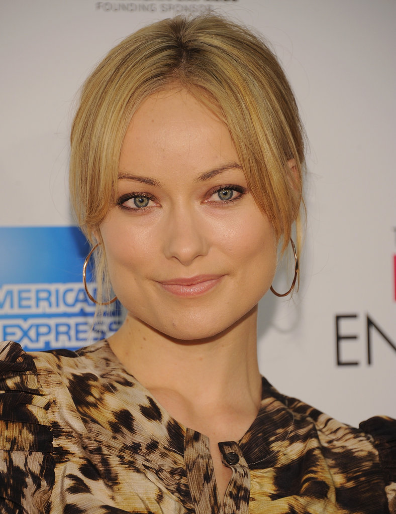 Olivia Wilde wore a Yigal Azrouel animal-print dress to the premiere of The Five-Year Engagement during the 2012 Tribeca Film Festival.