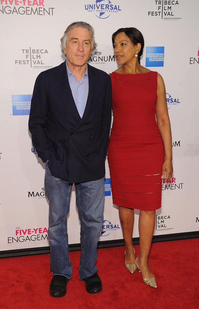 Robert De Niro was accompanied by wife Grace Hightower for the Five-Year Engagement premiere during the 2012 Tribeca Film Festival.