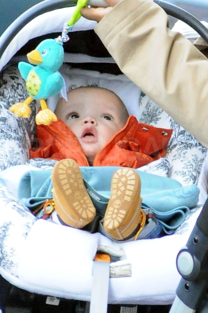 Moroccan Cannon wore an orange jacket and baby Timberlandss while he enjoyed his day out in NYC in November 2011.
