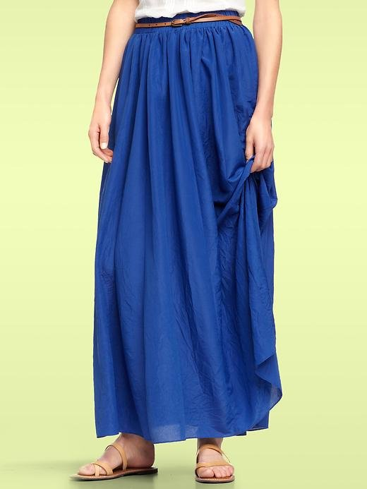 Forgo your daily pair of jeans for an indigo-colored casual maxi. Gap Crinkle Maxi Skirt ($80)