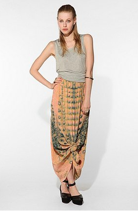We love the idea of knotting the bottom of this maxi skirt for a billowy gypsy effect. Urban Outfitters House of Dagmar Pallas Maxi Skirt ($329)