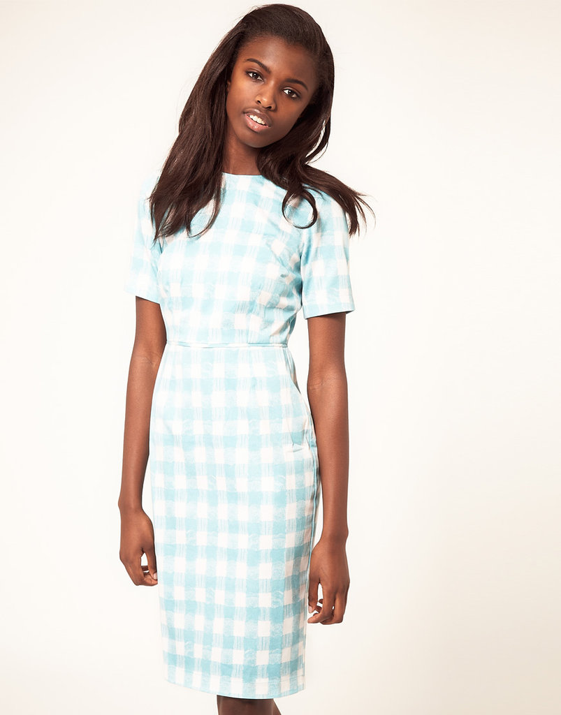 Channel '60s charm in this fitted sheath — and a sexy pair of heels.  Asos Pencil Dress In Pastel Gingham ($77)