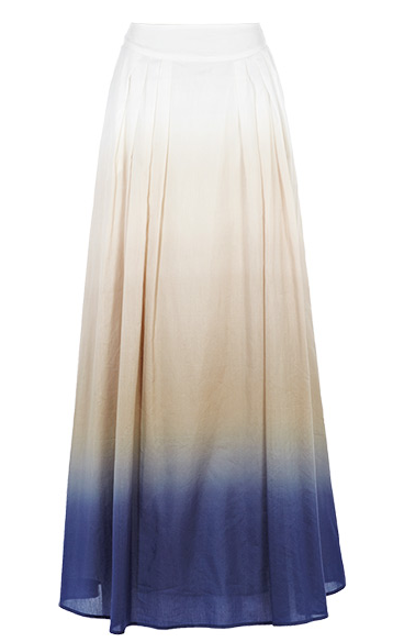 Indigo blue fades into pure white in this voluminous, ultrafeminine maxi.  Reiss Naveen Printed Maxi Skirt in Stone ($265)