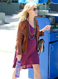 Reese Witherspoon offset her pretty eggplant-colored dress with layers of colorful beads.  5079869