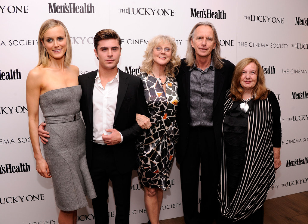 Taylor Schilling, Zac Efron, and Blythe Danner got together with director Scott Hicks and producer Kerry Heysen at the Cinema Society and Men's Health screening of The Lucky One in NYC.