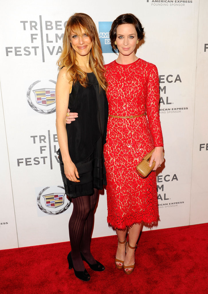 Lynn Shelton and Emily Blunt posed on the red carpet together at the premiere of Your Sister's Sister during the 2012 Tribeca Film Festival.