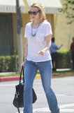 Rachel McAdams was out and about in La for a stroll after a day at the salon.