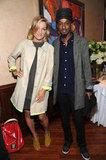 Lucy Walker and K'naan linked up at the 2012 Tribeca Film Festival Jury lunch.