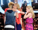 Colton Dixon got a hug from his fellow competitors.