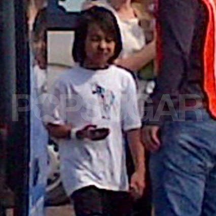 Maddox Jolie-Pitt arrived for his family vacation.
