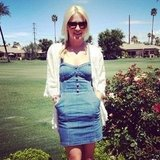 PopSugar's associate editor Lauren showed off a perfect denim day dress by H&M at Coachella.